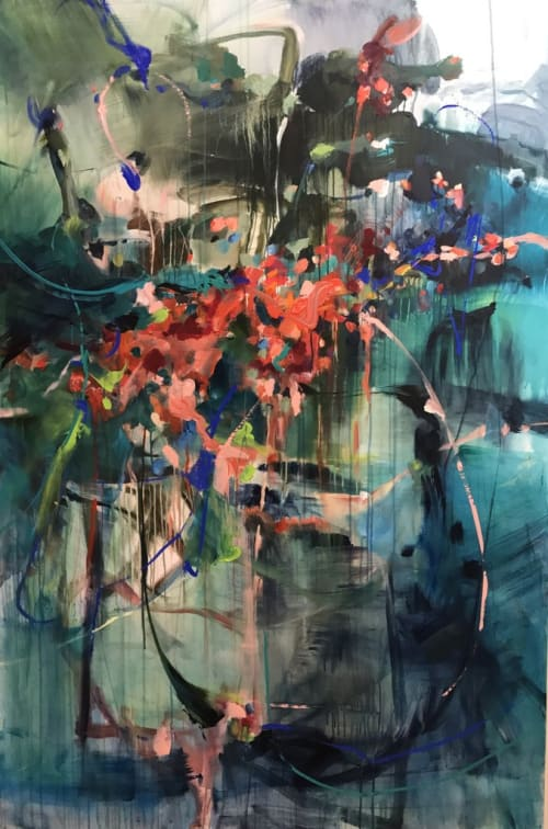 Paintings by Vicky Barranguet seen at Samui, Brooklyn - Let Things Come To You