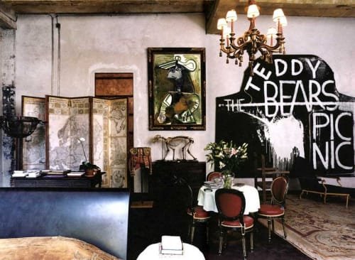 Art & Wall Decor by Julian Schnabel seen at Gramercy Park Hotel, New York - Teddy Bears Picnic