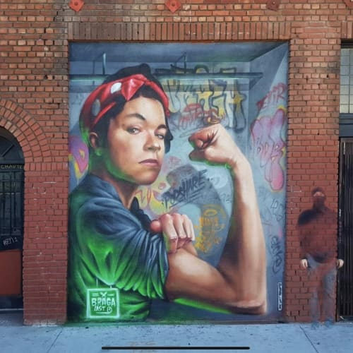 Street Murals by Braga Last1 at PodShare DTLA, Los Angeles - Mural