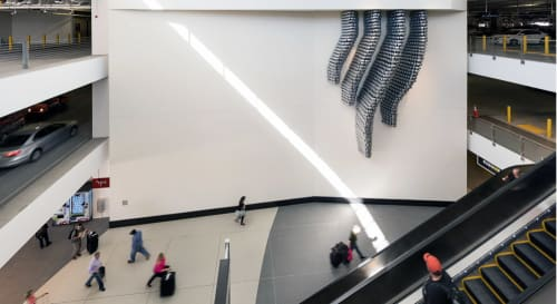 Sculptures by Amy Landesberg seen at National Car Rental - San Diego International Airport, San Diego - Autoplast II: Side Mirror Hive