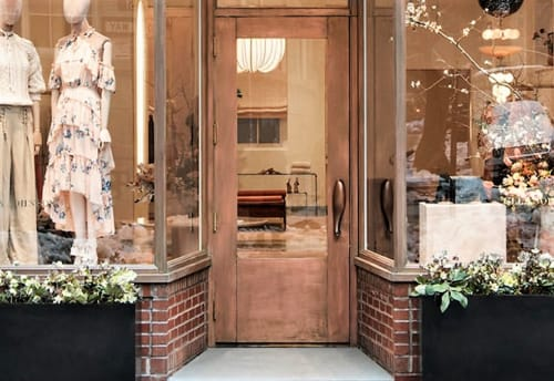 Hardware by Rogan Gregory seen at Ulla Johnson, New York - Custom Bronze Door Handle