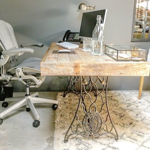 Tables by Charles Lushear seen at Private Residence, Los Angeles, CA, Los Angeles - Boho Desk