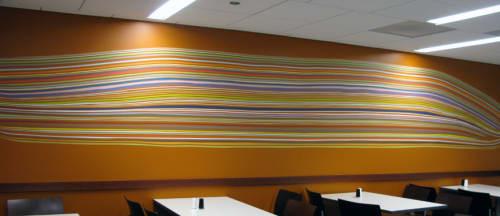 Murals by Leah Rosenberg seen at Moffitt Cafe - UCSF Medical Center, San Francisco - Gather