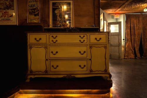 Furniture by M. Winter Design seen at Adults Only, Los Angeles - Vintage Dresser DJ Booth