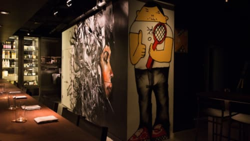 Murals by David Choe at Momofuku Ko, New York - Fat Boy Mural