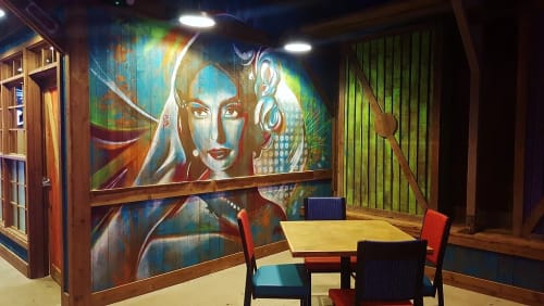 Murals by AbcArtAttack seen at Circus Circus Reno, Reno - Mural