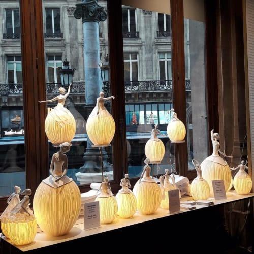 Lighting by Papier à êtres seen at Opera Gallery Paris, Paris - Ballerina Light Sculpture