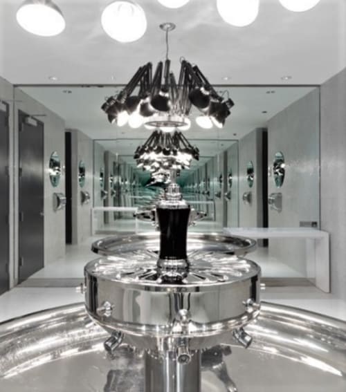 Chandeliers by Ron Gilad seen at Maritime Hotel, New York - Dear Ingo Black Chandelier