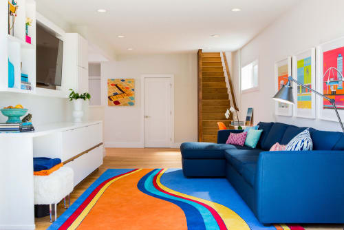 Rugs by Lucy Tupu Studio seen at Manhattan Beach Residence, Manhattan Beach - Manhattan Beach-Multiple Rugs