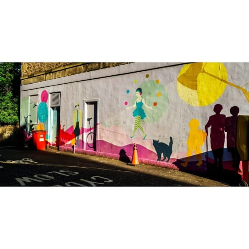 Street Murals by Kate George Design seen at Private Residence, Edinburgh - Mural