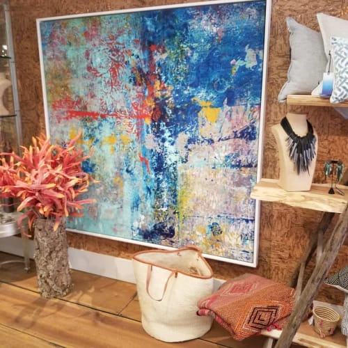 Paintings by Andrew Cotton Art 100% COTTON seen at Olley Court, Ridgefield - Abstract Fine Art