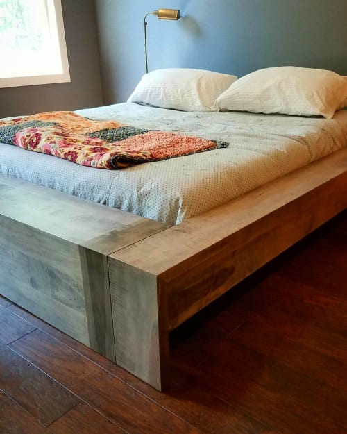 Beds & Accessories by Roxie Woodworks seen at Private Residence, Oxford - Maple Bed