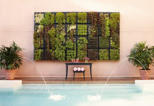 Plants & Landscape by Rottet Studio at The Beverly Hills Hotel, Beverly Hills - Custom Modular Vertical Garden