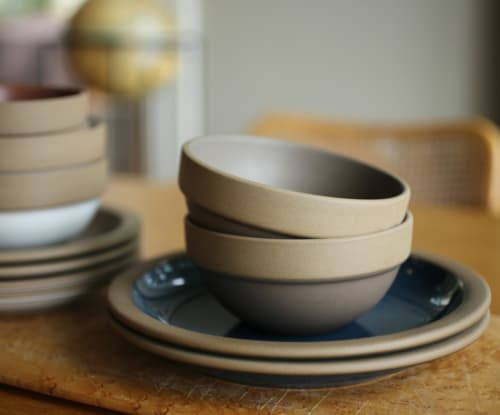 Tableware by Heath Ceramics seen at Tartine Manufactory, San Francisco - Rim Line bowls