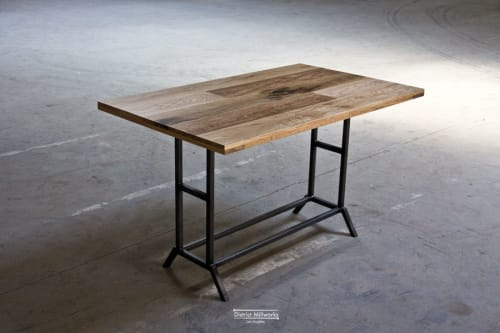 Tables by District Mills seen at Otium, Los Angeles - Tables