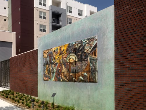 Street Murals by Natalie Blake Studios at The Trio At ENCORE!, Tampa - Noonday Sun: Central Ave. in its Heyday, 1920-1967