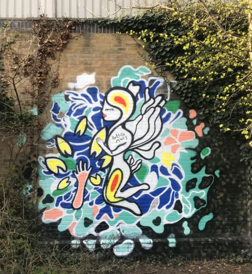 Street Murals by Anthea Missy seen at Hackney Wick, London - Natura est Ars Dei Mural