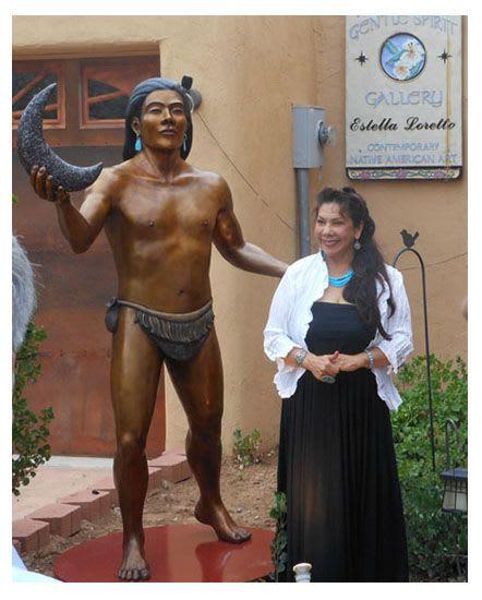Public Sculptures by Estella Loretto seen at Gentle Spirit Studio & Estella, Santa Fe - Walking in Grace