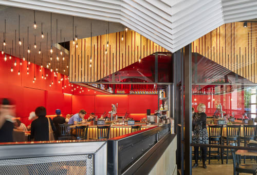 Interior Design by Mark Odom Studio seen at Torchy's Tacos, The Woodlands - Torchy's Tacos, The Woodlands