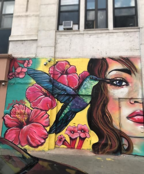 Street Murals by Lexi Bella seen at Bushwick, Brooklyn, Brooklyn - Vision is the Sweetest Nectar