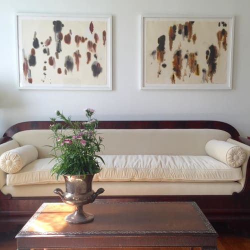 Art & Wall Decor by Marieken Cochius seen at Private Residence, Newburgh - Ulvae I and II. Ink and shellac on paper.