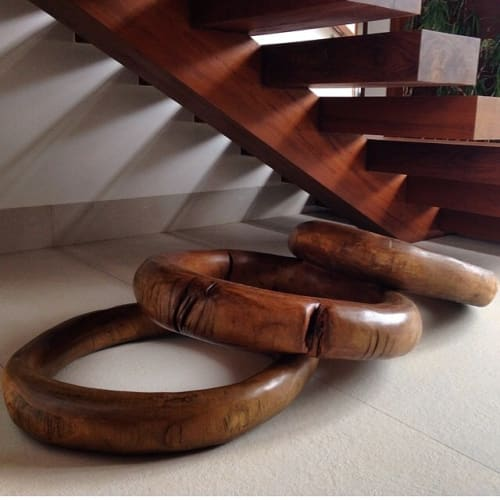 Sculptures by Atelier Hugo França at Private Residence, Goiânia - The Rings