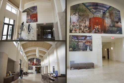 Murals by Counterpoint Studio, LLC seen at Temple Beth El, Charlotte - Am Yisrael Chai