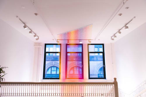 Art & Wall Decor by Gabriel Dawe seen at Facebook, New York, Astor Place, New York - Thread Installation