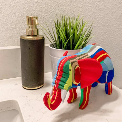 Art & Wall Decor by Ocean Sole seen at Private Residence, St. Augustine - Elephant with Red Ear