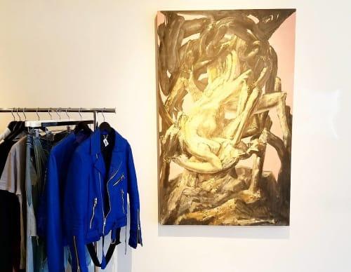 Paintings by Piero Passacantando seen at 9J, Bronx - Desert Spiders