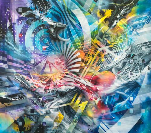 Paintings by Oliver Vernon seen at Hyatt Regency Long Beach, Long Beach - Ascension Canvas