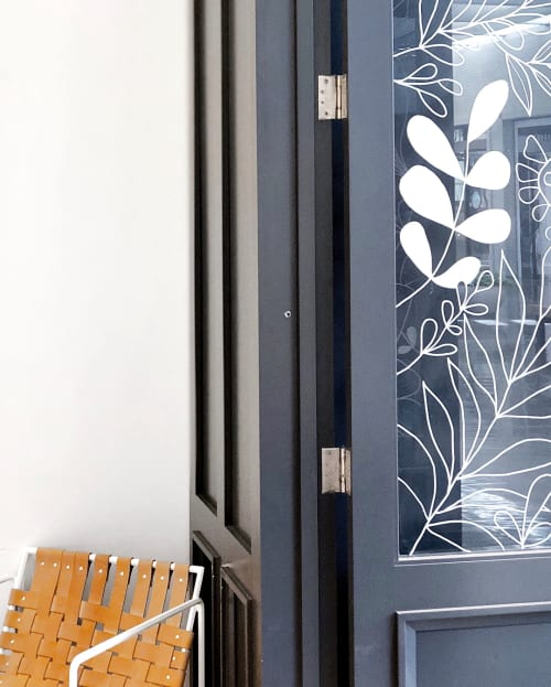 Murals by Alli K Design seen at Lou & Grey, Dallas - Door and  Window Display Paint