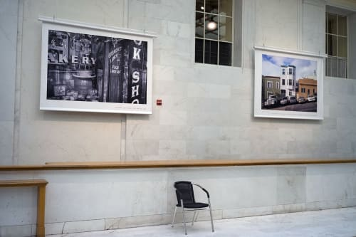 "Photography by Jason Tannen Photography seen at San Francisco City Hall, San Francisco - Temporary installation view, """"Food Take Out,"""" banner, 60in x 80in"