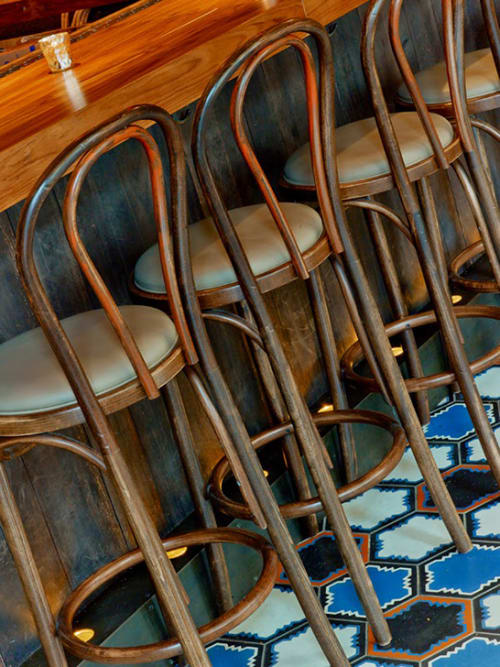 Chairs by John Celli seen at GATO, New York - Bar stools