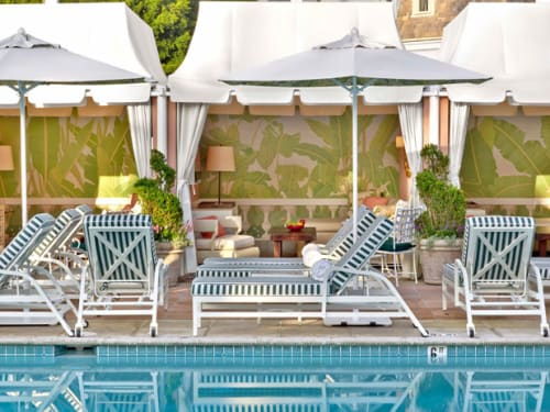 Chairs by Walters Wicker seen at The Beverly Hills Hotel, Beverly Hills - Custom Lounge Chairs (Cabana)