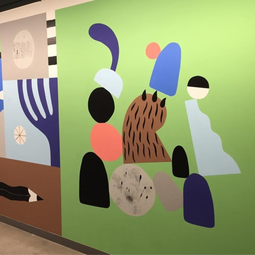 Murals by Ryan Bubnis Studio seen at Facebook - Arbor Blocks East, Seattle - Mural