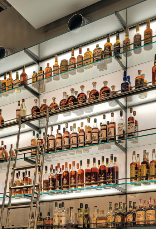 Furniture by Lundberg Design seen at Hard Water, San Francisco - Whiskey Library