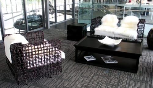 Chairs by Kenneth Cobonpue at Advanced Flight Heliport Auckland New Zealand, Auckland - Ying & Yang Easy Armchair