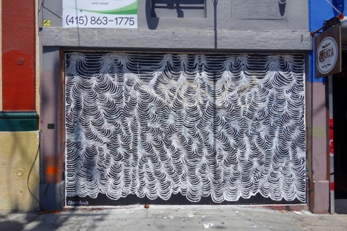 Murals by Chase Roselli seen at 16th Street and Valencia Street, San Francisco, CA, San Francisco - Waves