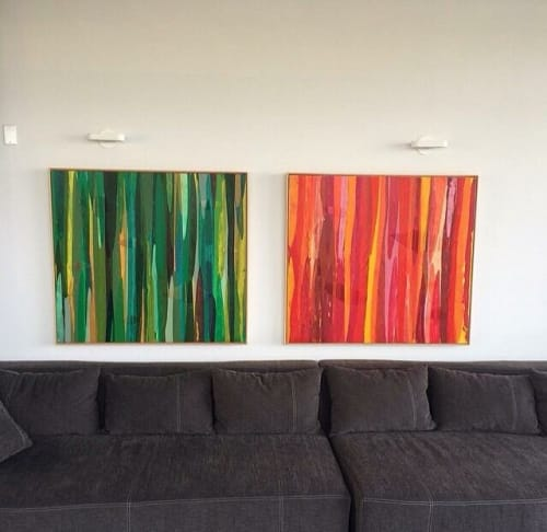 Paintings by Raül de la Torre seen at Private Residence, Los Angeles - Poemes (2013)