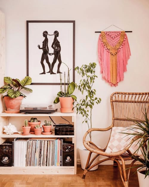 Paintings by Filippa Jean Edghill seen at Private Residence, Stockholm, Sweden, Stockholm - Sisterhood