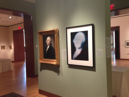 Paintings by Bill Armstrong seen at New Britain Museum of American Art, New Britain - Appropriation & Inspiration: George Washington