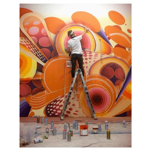 Murals by Anna Charney seen at Iron Clad Fitness, Denver - Mural