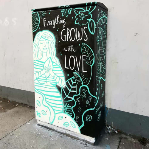 Street Murals by Karen Harte seen at The elbowroom, Dublin - Everything Grows with Love