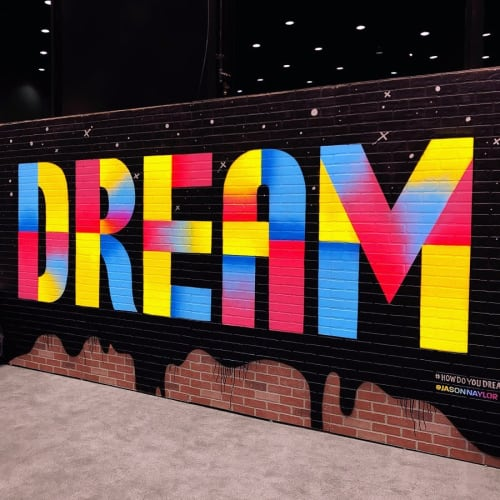 Murals by Jason Naylor seen at McCormick Place, Chicago - How Do You Dream?