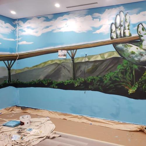 Murals by Art of Stacy Nalapraya seen at Bay Grill & Karaoke, Stanton - Mural