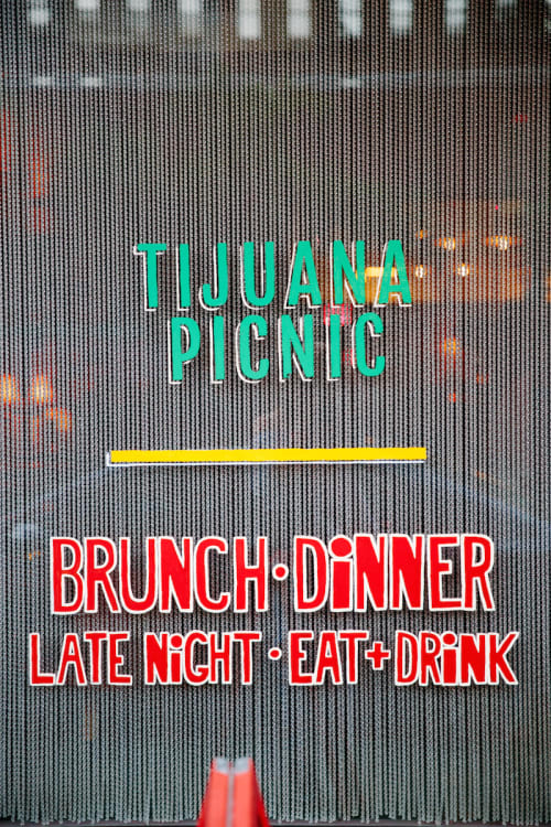 Signage by Scott Cimock seen at Tijuana Picnic, New York - Outdoor Signage