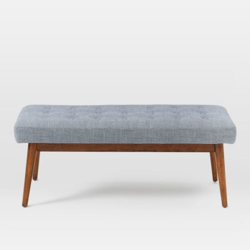 Mid-Century Upholstered Bench | Benches & Ottomans by West Elm | JW Marriott Essex House New York in New York