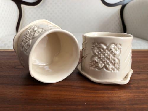 Cups by Brendan Roddy Art seen at Brendan Roddy Art Studio, Kennebunk - White Cups