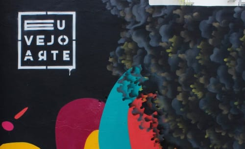 Murals by Aracê seen at Rede de Óticas Mercadão dos Óculos!, Centro - Eu vejo arte Mural